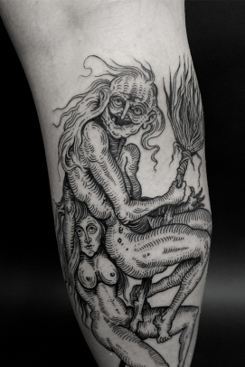 25.19 witch tattoo David Tejero